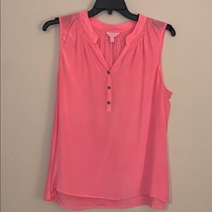 Lily Pulitzer silk top pink